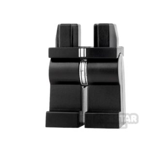 Product shot LEGO Mini Figure Legs - Black with Silver Robe Tail