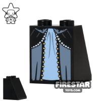 Product shot LEGO Mini Figure Legs - Blue Layered Skirt