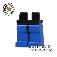 Product shot LEGO Mini Figure Legs - Blue With Black Hips
