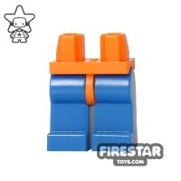 Product shot LEGO Mini Figure Legs - Blue With Orange Hips