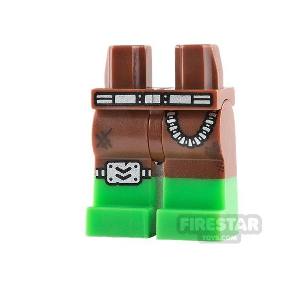Product shot LEGO Mini Figure Legs - Bright Green Boots