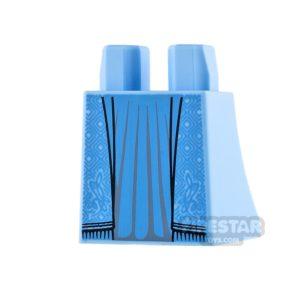Product shot LEGO Mini Figure Legs - Curved Skirt - Bright Light Blue Robe
