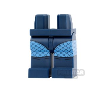 Product shot LEGO Mini Figure Legs - Dark Blue with Fishnet Tights