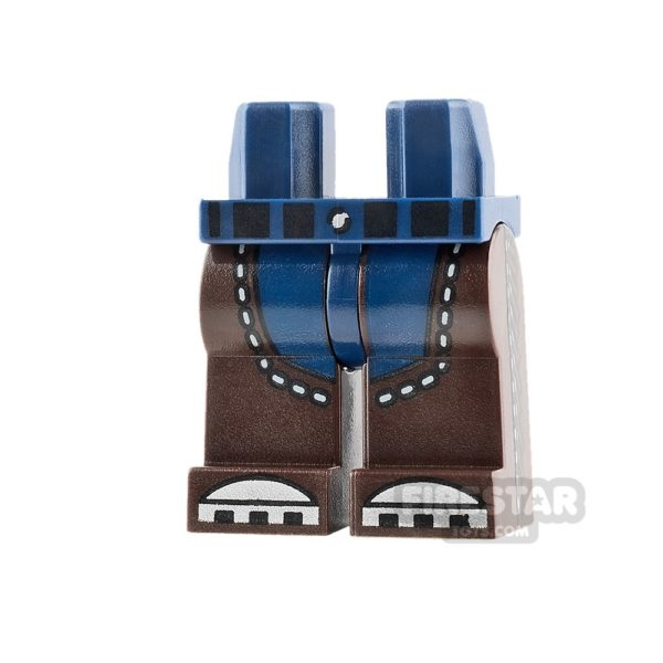 Product shot LEGO Mini Figure Legs Dark Brown Chaps