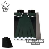 Product shot LEGO Mini Figure Legs - Dark Green Skirt