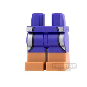 Product shot LEGO Mini Figure Legs - Dark Purple Wetsuit with Silver Stripes