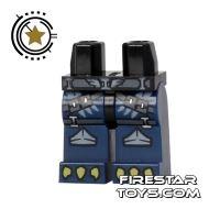 Product shot LEGO Mini Figure Legs - Eagle Claws - Blue Armour