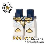 Product shot LEGO Mini Figure Legs - Eagle Claws - Gold Armour