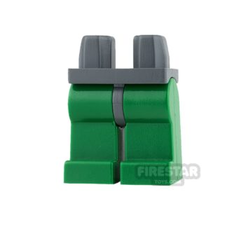 Product shot LEGO Mini Figure Legs - Green Legs with Dark Blueish Gray Hips