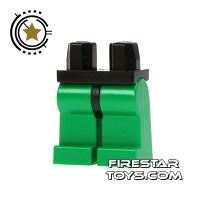 Product shot LEGO Mini Figure Legs - Green With Black Hips