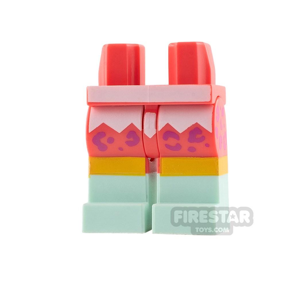 Product shot LEGO Mini Figure Legs Leopard Print