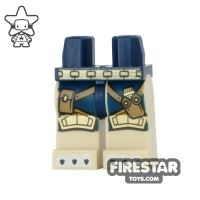 Product shot LEGO Mini Figure Legs - Lion Claws - Gold and Blue Armour
