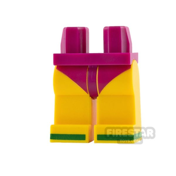 Product shot LEGO Mini Figure Legs Magenta Bikini