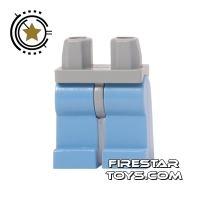 Product shot LEGO Mini Figure Legs - Medium Blue Legs Light Gray Hips