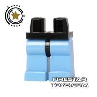 Product shot LEGO Mini Figure Legs - Medium Blue Legs with Black Hips