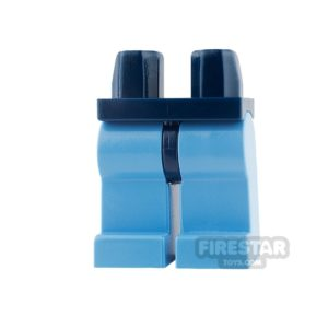 Product shot LEGO Mini Figure Legs - Medium Blue Legs with Dark Blue Hips
