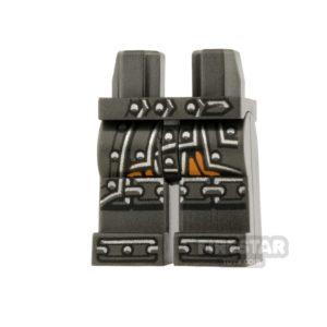 Product shot LEGO Mini Figure Legs - Ninjago - Black Belt and Knee Pads