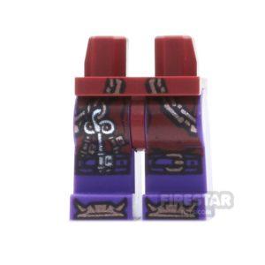 Product shot LEGO Mini Figure Legs - Ninjago - Copper Chains with Key