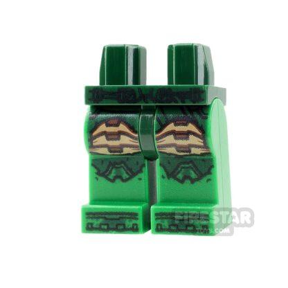 Product shot LEGO Mini Figure Legs - Parademon - Dark Green