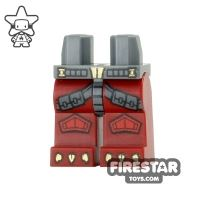 Product shot LEGO Mini Figure Legs - Phoenix - Knee Pads