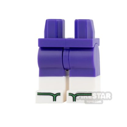 Product shot LEGO Mini Figure Legs - Purple Shorts with Green Sandals
