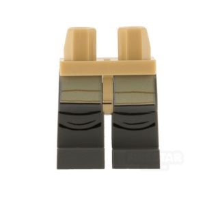 Product shot LEGO Mini Figure Legs - Rebel Trooper - Dark Blueish Gray with Creases