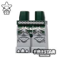 Product shot LEGO Mini Figure Legs - Rhino - Dark Green Armour