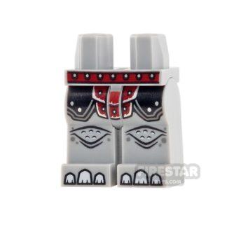 Product shot LEGO Mini Figure Legs - Rhino - Dark Red Armour