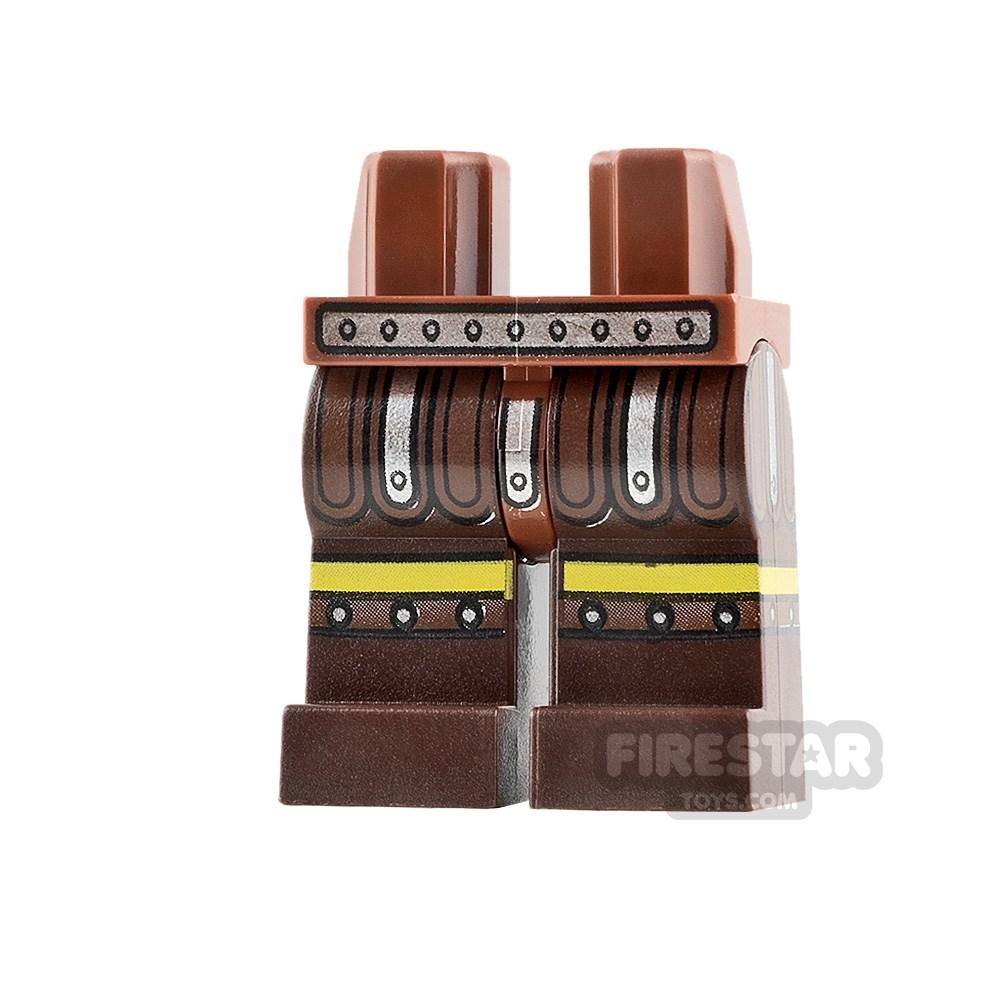 Product shot LEGO Mini Figure Legs Silver Skirt Tassels
