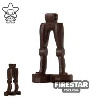 Product shot LEGO Mini Figure Legs - Super Battle Droid - Dark Brown