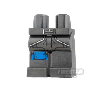 Product shot LEGO Mini Figure Legs - Thor - Breast Plate Edge and Knee Pad