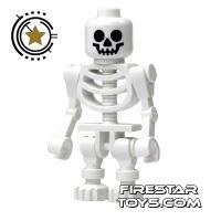 Product shot LEGO Mini Figure - Skeleton - Bent Arms