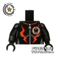Product shot LEGO Mini Figure Torso - Agents - Female Villain