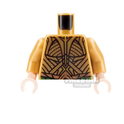 Product shot LEGO Mini Figure Torso - Aquaman - Gold suit