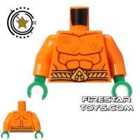 Product shot LEGO Mini Figure Torso - Aquaman - Muscles and Scales