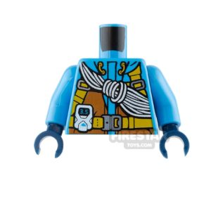 Product shot LEGO Mini Figure Torso - Arctic Explorer Jacket - Climbing Rope