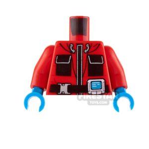 Product shot LEGO Mini Figure Torso - Arctic Explorer Jacket - Red