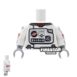 Product shot LEGO Mini Figure Torso - Astronaut Spacesuit