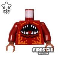 Product shot LEGO Mini Figure Torso - Atlantis - Mouth and Sharp Teeth