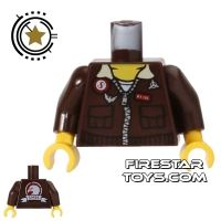 Product shot LEGO Mini Figure Torso - Aviator Jacket