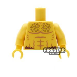 Product shot LEGO Mini Figure Torso - Bare Chest