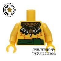 Product shot LEGO Mini Figure Torso - Bare Chest and Aztec Necklace