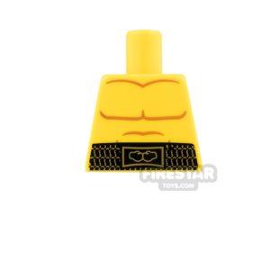 Product shot LEGO Mini Figure Torso - Bare Chest with Belt - No Arms