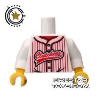 Product shot LEGO Mini Figure Torso - Baseball Shirt