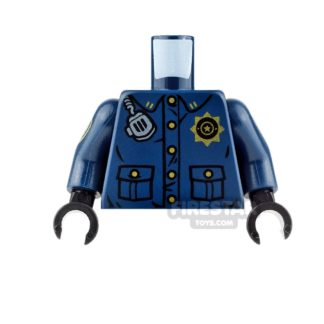 Product shot LEGO Mini Figure Torso - Batman - GCPD Officer