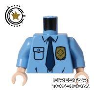 Product shot LEGO Mini Figure Torso - Batman Guard - Police Shirt