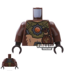 Product shot LEGO Mini Figure Torso - Bear - Armour and Pouch