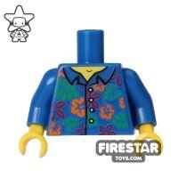 Product shot LEGO Mini Figure Torso - Blue Hawaiian Shirt
