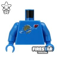 Product shot LEGO Mini Figure Torso - Blue Space Torso