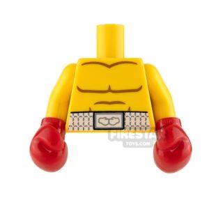 Product shot LEGO Mini Figure Torso - Boxing Gloves and Boxers Belt